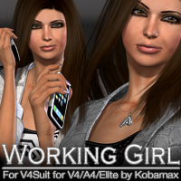 Working Girl for V4Suit V4/A4/Elite by Kobamax 3D Figure Essentials 3D Models fratast