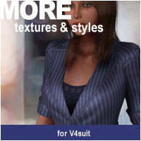 MORE Textures & Styles for V4suit 3D Models 3D Figure Assets motif