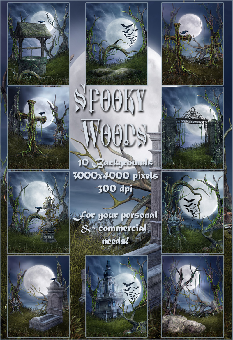 Spooky Woods Backgrounds