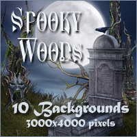 Spooky Woods Backgrounds 2D 3D Models -Melkor-