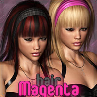 Magenta Hair 3D Figure Essentials outoftouch