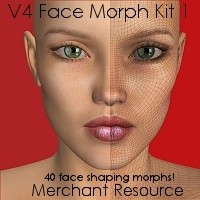 V4 Face Morph Kit 1 3D Figure Essentials HandspanStudios