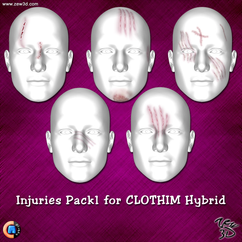 Injuries Pack1 for CLOTHIM Hybrid