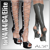 Trendy Sandals4 for V4.2/A4/Elite/G4 3D Figure Assets _Al3d_