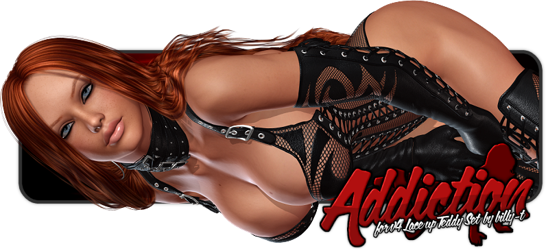 Addiction for V4 Lace Up Teddy Set