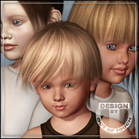 15 Unique Faces of Kids 4 3D Figure Assets outoftouch