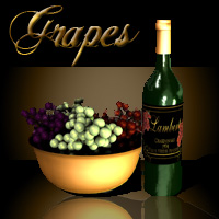 AW Grapes 3D Models awycoff