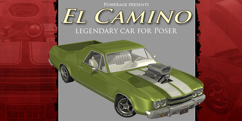 El Camino car for Poser