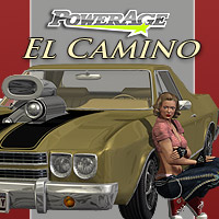 El Camino car for Poser 3D Models powerage