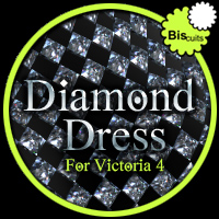 Biscuits Diamond Dress 3D Figure Essentials Biscuits
