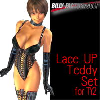 TY2 Lace Up Teddy Set 3D Figure Assets billy-t