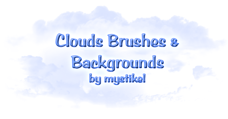Cloud Brushes & Backgrounds
