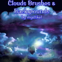 Cloud Brushes & Backgrounds 3D Models 2D Graphics mystikel