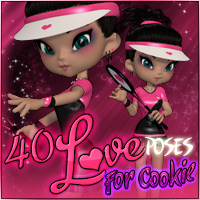 40Love for Cookie Poses 3D Figure Assets Propschick