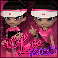 40Love for Cookie 3D Figure Assets Propschick
