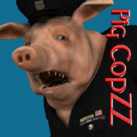 PigCopZZ Clothing Themed Stand Alone Figures WhopperNnoonWalker-