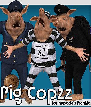 PigCopZZ 3D Models 3D Figure Essentials WhopperNnoonWalker-