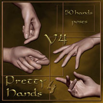Pretty Hands 4 - V4 3D Figure Assets ilona