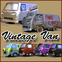 Vintage Van Themed Props/Scenes/Architecture Transportation LukeA