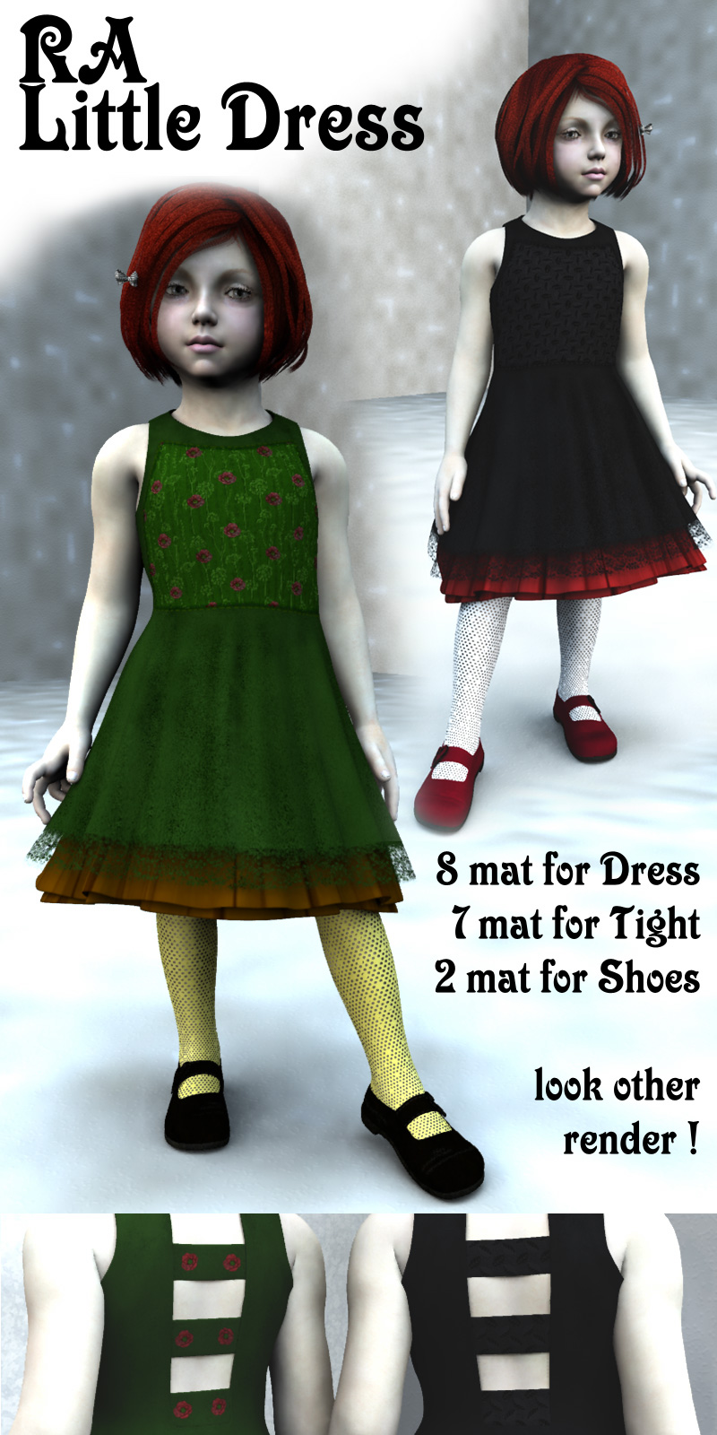 RA Little Dress for Kids4