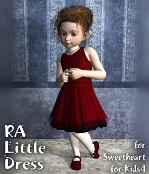 RA Little Dress for Kids4 3D Figure Assets RAGraphicDesign