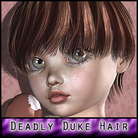 Deadly: Duke Hair 3D Figure Essentials ForbiddenWhispers