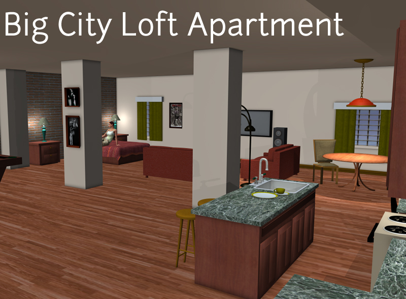big city loft apartment 3d models ironman13