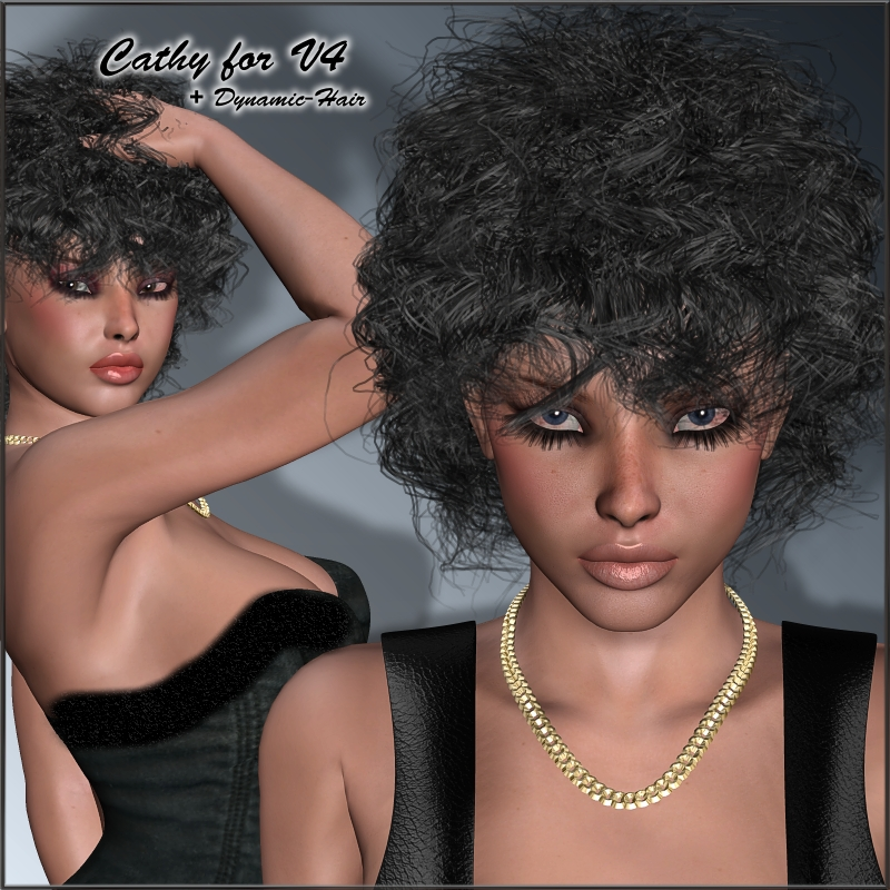 Cathy + Dynamic Hair for V4