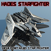 Hades Star Fighter Themed Transportation Props/Scenes/Architecture Madaboutgames