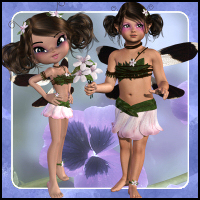 Bramble Beri Fairy for K4/Cookie 3D Figure Assets Propschick