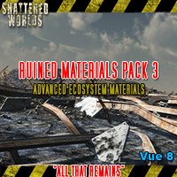 "Ruined Materials Pack3, ""All That Remains"" Software Props/Scenes/Architecture Themed MRX3010"