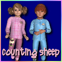 Counting Sheep 3D Figure Assets WildDesigns