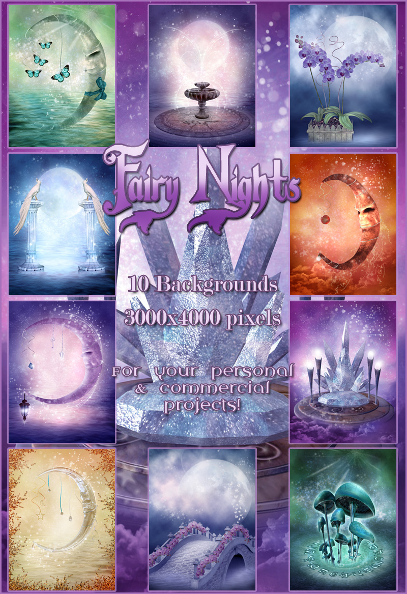 Fairy Nights Backgrounds