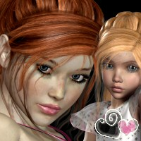 PrimRose Hair V4 K4 3D Figure Essentials SWAM