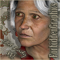 Old Lady for V4 3D Figure Essentials JSGraphics