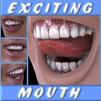 Exciting Mouth 3D Figure Assets odnajdy