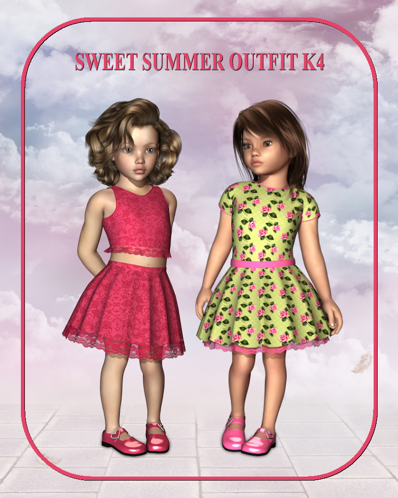 Sweet Summer Outfit for K4 Girl