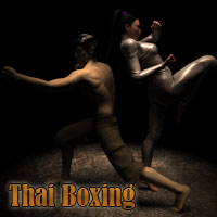 YBlues's Martial Art - Thai Boxing Poses For V4/M4 3D Figure Assets yblues