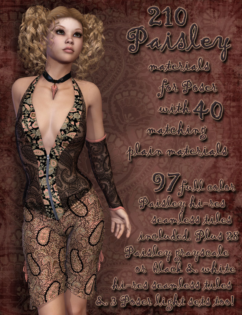 Pd-Paisley Poser Materials by parrotdolphin