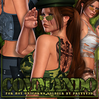 Commando for Hot Uniforms Soldier by Shana