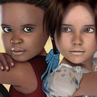 Twins: Lemar and Denisha 3D Figure Assets Virtual_World