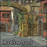 Old Courtyard 3D Models 3D Figure Essentials LukeA