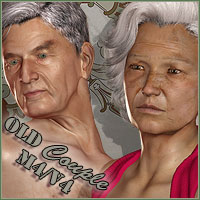 The Old Couple M4/V4 3D Figure Assets ForbiddenWhispers