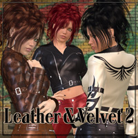 Leather & Velvet Textures II Themed 2D And/Or Merchant Resources Anagord