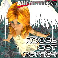 K4 Angel Set 3D Figure Assets billy-t