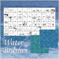 Water Brushes 2D And/Or Merchant Resources Atenais