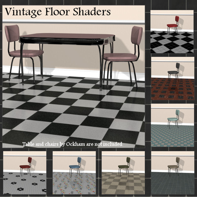 Vintage Floor Shader Presets for Daz Studio