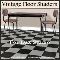 Vintage Floor Shader Presets for Daz Studio 3D Figure Assets Khory_D