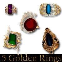 AW 5 Golden Rings 3D Models awycoff