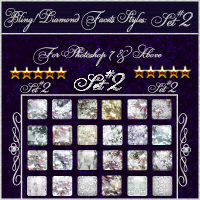 Bling! DIAMOND FACETS Styles {Set#2} w/Free Gift 2D 3D Models fractalartist01